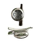Основа под заколку круглая 25 мм никель уп. 20 шт.