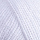 Пряжа Джинс (YarnArt Jeans), 50 г / 160 м,  62 белоснежный