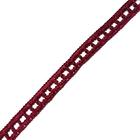 Тесьма отделочная 15 мм №01  (уп. 10 м) бордо