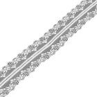 Кружево капрон  40 мм TBY-150-1  (уп. 27.4 м) 001 белый
