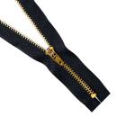 Молния Т4 джинс. п/авт.М-4002 14 см золото/черный
