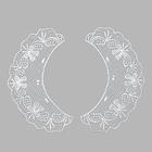 Воротничок QC359 20*7 см белый