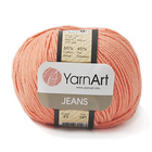 Пряжа Джинс (YarnArt Jeans), 50 г / 160 м, 23 оранжевый