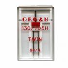 Иглы быт. маш. ORGAN 130/705Н №100/4 двойные  (уп. 1 шт.)