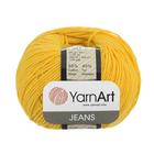 Пряжа Джинс (YarnArt Jeans), 50 г / 160 м, 35 желтый
