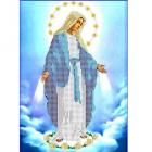 Рисунок для вышивания бисером Каролинка КБИ-4009 «Дева Мария Непорочного зачатия» А4