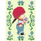 Рисунок на ткани «Славяночка КС-130 Цветы для малышки» 13,5*17 см