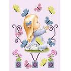 Рисунок на ткани «Славяночка КС-136 Малышка на природе» 13,5*17 см