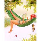 Рисунок для вышивания бисером Gluria 75036 «Хильда в гамаке» 28*36 мм