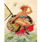 Рисунок для вышивания бисером Gluria 75037 «Хильда в лодке» 28*36 мм