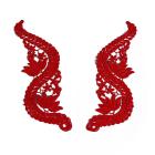 Аппликация пришивная 3576286 (лейсы) 22*7 см красный ИМ