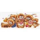 Набор для вышивания HP S-065 «Мишки в ряд» 21*54 см
