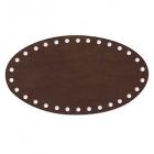 Заготовка для декора №504 кожа 100% донышко 12,2*22 см, т.коричневый