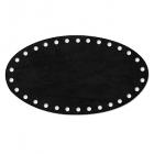 Заготовка для декора №504 кожа 100% донышко 12,2*22 см, черный