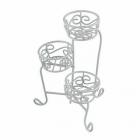 Декор MET-045 Металл кашпо садовая миниатюра 5,5*3*8,5 см белый