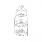Декор MET-053 Металл уголок с полочками садовая миниатюра 8*6*18 см