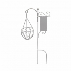 Декор MET-069 Металл вывеска с кашпо садовая миниатюра 3,5*18,5 см