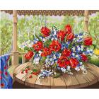 Набор для раскрашивания Фрея PNB/R1 №114 «Тюльпаны с черемухой»
