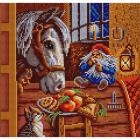 Рисунок на ткани «Конек 1208 Угощение» 25*25 см