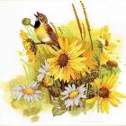Рисунок на ткани «Конек 9499 Певунья птичка» 25*25 см