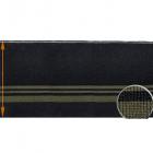 Подвяз трикотажный п/э ГД15058 13*125 см черный/хаки
