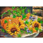 Набор для вышивания бисером Паутинка Б-1265 «Натюрморт с тыквами» 40*29 см