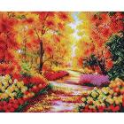 Рисунок для вышивания бисером Магия канвы Б318 «Осенний сквер» 28*23 см