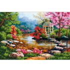 Рисунок для вышивания бисером Магия канвы КС-069 «Беседка на озере» 27*38 см