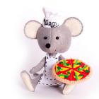 Набор для шитья Кукла Перловка из фетра ПФД-1067 «Мастер пиццы» 12,5 см