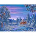 Рисунок для вышивания бисером Астрея (Gluria) 71021 «Зимний домик» 30*40 см