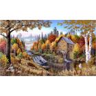 Рисунок для вышивания бисером Астрея (Gluria) 71033 «Старая мельница» 26*44 см