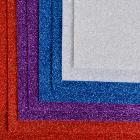 Фетр 1,4 мм глиттер FTL-GL2 (однотон.) 20*30 см ассорти (уп 8 листов)