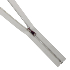 Молния TIT Т3 мет. 70 см (1 замок) шлифованный никель/белый
