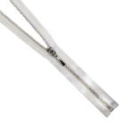 Молния TIT Т4 мет. 70 см атлас  никель/белый