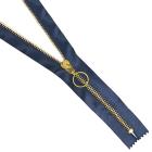 Молния Т5 атлас разъемн.  70 см 12170 золото 330 синий