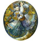 Набор для вышивания бисером МП 141/БП «Осеннее богатство» с паспарту  24*26 см