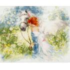 Набор для вышивания Золотое руно АК-005 «Белый сон» 28*35,5 см