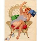 Рисунок для вышивания бисером Gluria 75037 «Хильда с книгой» 28*36 мм