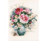 Набор для вышивания Риолис №1816 «Пионы и шиповник» 30*40 см