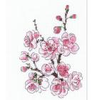 Набор для вышивания Риолис №1818 «Веточка сакуры» 13*16 см