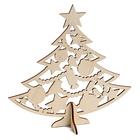 Заготовка для декора «Ёлка с новогодними игрушками» дерев.