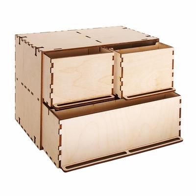 Заготовка для декора «Комодик»  3 ящика 26*14,5*17,5 см в интернет-магазине Швейпрофи.рф