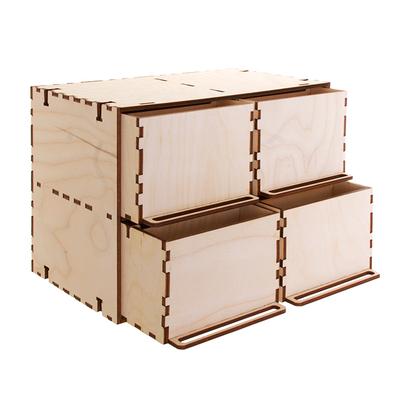 Заготовка для декора «Комодик»  4 ящика 26*14,5*17,5 см в интернет-магазине Швейпрофи.рф