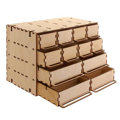 Заготовка для декора «Комодик» 12 ящиков 26*14,5*17,5 см в интернет-магазине Швейпрофи.рф
