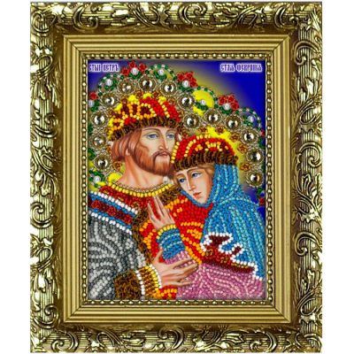 Набор для выш. Вышиваем Бисером R5 «Св. Петр и Феврония БМ» (с рамкой) 9,5*12,5 см в интернет-магазине Швейпрофи.рф
