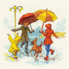 Набор для вышивания Риолис №1799 «Нет плохой погоды» 23*23 см