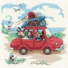 Набор для вышивания Риолис №1800 «Папа купил автомобиль» 23*23 см