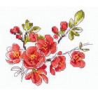 Набор для вышивания Риолис №1819 «Веточка цидонии» 16*13 см