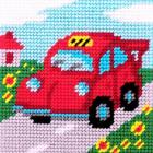 Набор для вышивания с пряжей BAMBINI  X2017 «Такси» 15*15 см