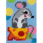Набор для вышивания с пряжей BAMBINI  X2149 «Мышка» 10*14 см